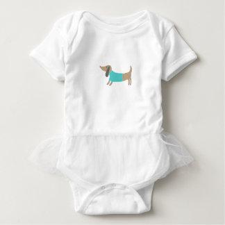 Body Para Bebê Mão bonito cachorrinho tirado