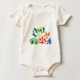 Body Para Bebê Mão e pé florais