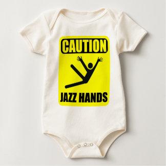 Body Para Bebê Mãos do jazz do cuidado