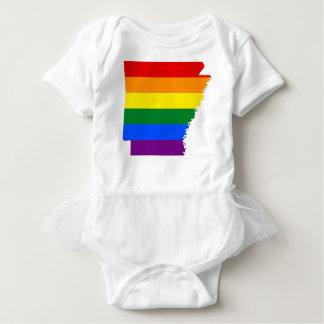 Body Para Bebê Mapa da bandeira de Arkansas LGBT