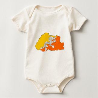 Body Para Bebê Mapa da bandeira de Bhutan