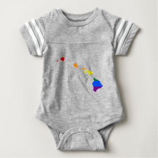 Body Para Bebê Mapa da bandeira de Havaí LGBT