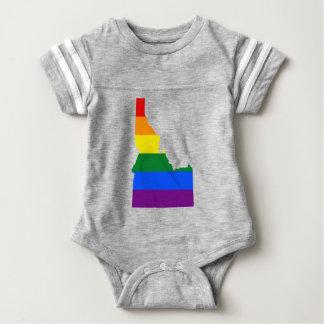 Body Para Bebê Mapa da bandeira de Idaho LGBT