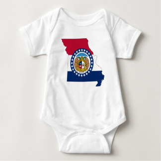Body Para Bebê Mapa da bandeira de Missouri