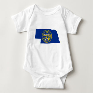 Body Para Bebê Mapa da bandeira de Nebraska