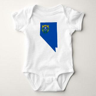 Body Para Bebê Mapa da bandeira de Nevada