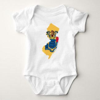 Body Para Bebê Mapa da bandeira de New-jersey