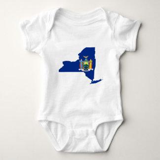 Body Para Bebê Mapa da bandeira de New York