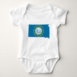 Body Para Bebê Mapa da bandeira de South Dakota