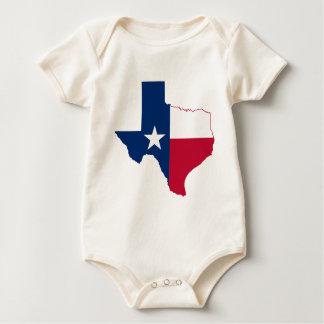 Body Para Bebê Mapa da bandeira de Texas