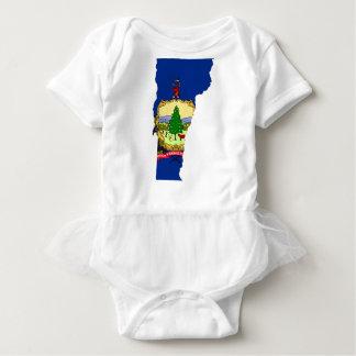 Body Para Bebê Mapa da bandeira de Vermont