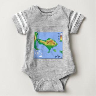 Body Para Bebê Mapa de Bali