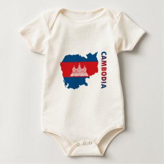 Body Para Bebê Mapa de Cambodia