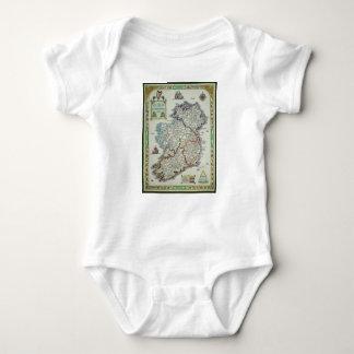Body Para Bebê Mapa de Ireland - mapa histórico de Eire Erin do
