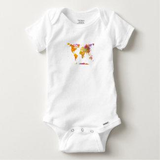 Body Para Bebê mapa do mundo