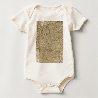 Body Para Bebê Mapa do vintage de Kansas City Missouri (1935)