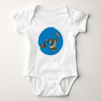 Body Para Bebê Mapa liso da terra - projeção equidistante