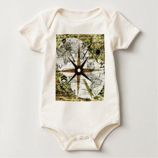 Body Para Bebê Mapa velho