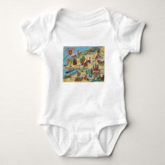 Body Para Bebê Mapa velho de Normandie