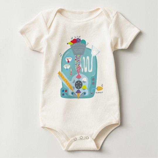 Body Para Bebê maquina de sorvete