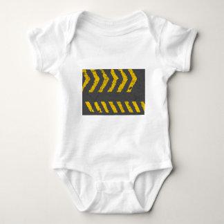 Body Para Bebê Marcação de estrada amarela afligida Grunge