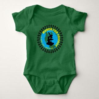 Body Para Bebê Março para a ciência - Dia da Terra - 22 de abril