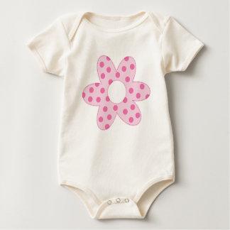 Body Para Bebê Margarida cor-de-rosa do primavera