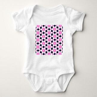 Body Para Bebê Margaridas cor-de-rosa robustas no preto