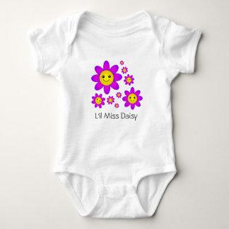 Body Para Bebê Margaridas roxas de sorriso