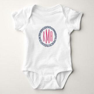 Body Para Bebê Marinho náutico formal & bebê cor-de-rosa do