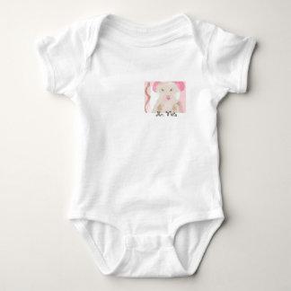 Body Para Bebê Marrom cor-de-rosa branco de Onesy do rato