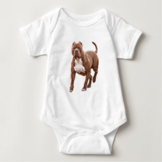 Body Para Bebê Marrom do pitbull