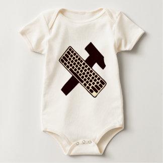 Body Para Bebê Martelo e teclado