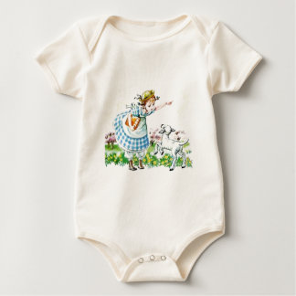 Body Para Bebê Mary teve um cordeiro pequeno