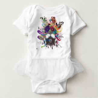 Body Para Bebê Máscara de gás com rosas 5