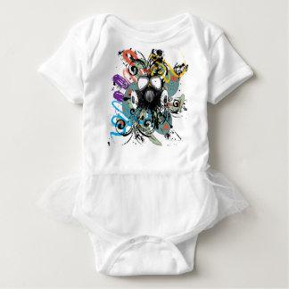Body Para Bebê Máscara de gás floral do Grunge