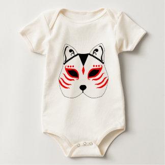 Body Para Bebê Máscara japonesa do gato