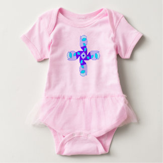 Body Para Bebê máscaras de onesy cor-de-rosa ruffled azul