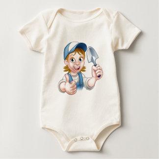 Body Para Bebê Mascote do jardineiro da mulher dos desenhos