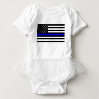 Body Para Bebê Matéria azul das vidas - a polícia da bandeira dos