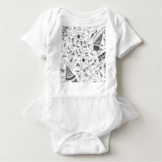Body Para Bebê Matéria têxtil indonésia florido abstrata