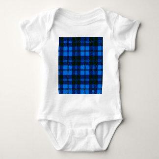 Body Para Bebê Material azul de lãs do Tartan