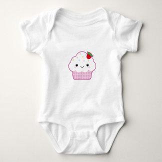 Body Para Bebê Material do bebê do cupcake de Kawaii