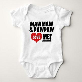 Body Para Bebê MawMaw e o PawPaw amam-me