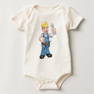 Body Para Bebê Mecânico ou canalizador com chave inglesa
