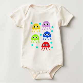 Body Para Bebê Medusas multicolores