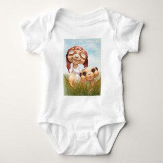 Body Para Bebê Meerkats com roupa Onsie da aviação