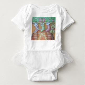 Body Para Bebê Meia do Natal
