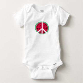 Body Para Bebê Melancia da paz