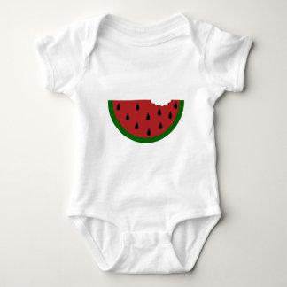 Body Para Bebê melancia mordida fruta da fatia da comida